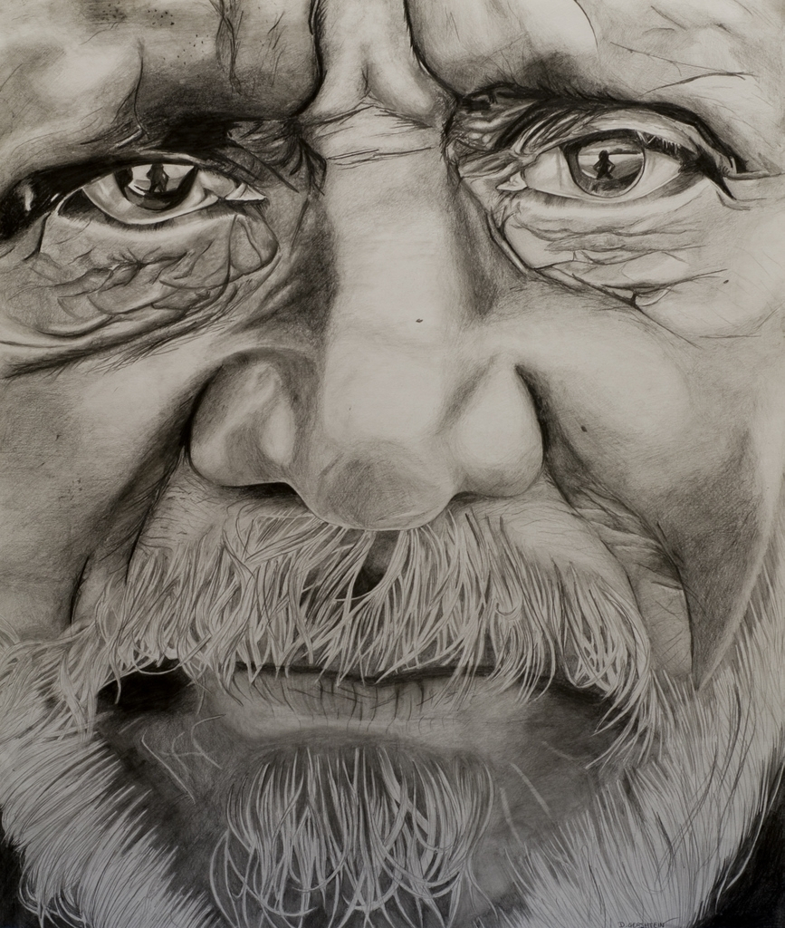 867x1024 Old Man Pencil Drawing Old Man Pencil Drawing Dalya Gershtein Art