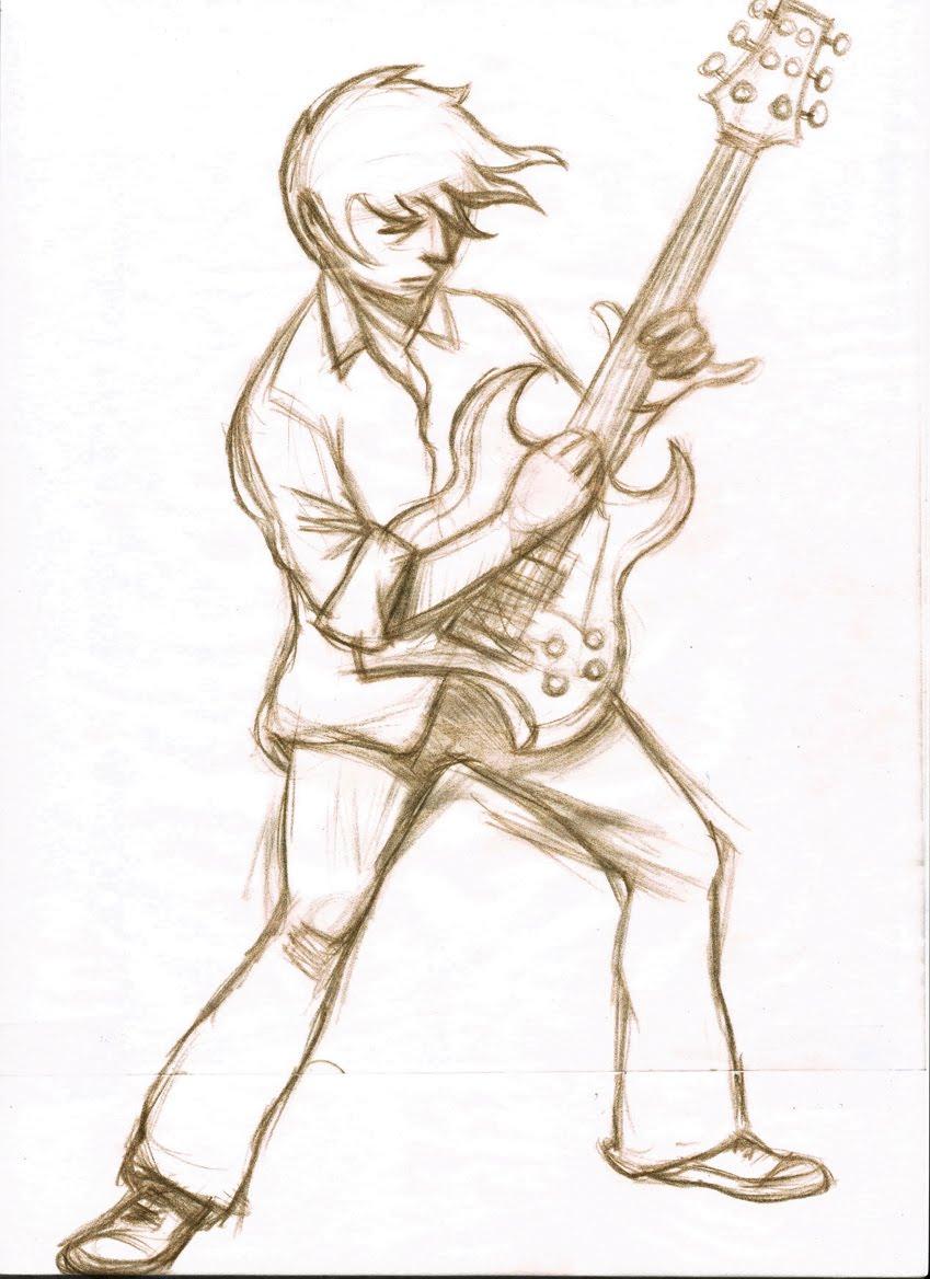849x1168 Kerry Illustrates Guitar Man
