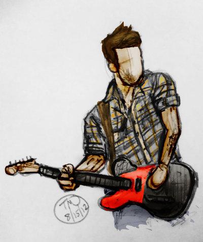 400x477 Man Playing Guitar