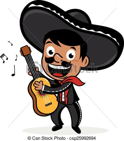 413x470 Mexican Mariachi Man Playing Guitar. Mexican Mariachi Man Eps