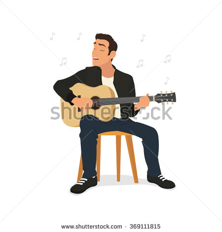 450x470 Photos Guy Playing Guitar Cartoon