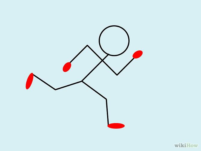 670x503 How To Draw A Stick Man Running D R A W I N G