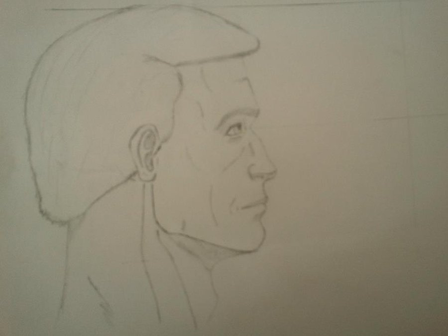 900x675 Sketch, Man Face Portrait Side View By Ophy25