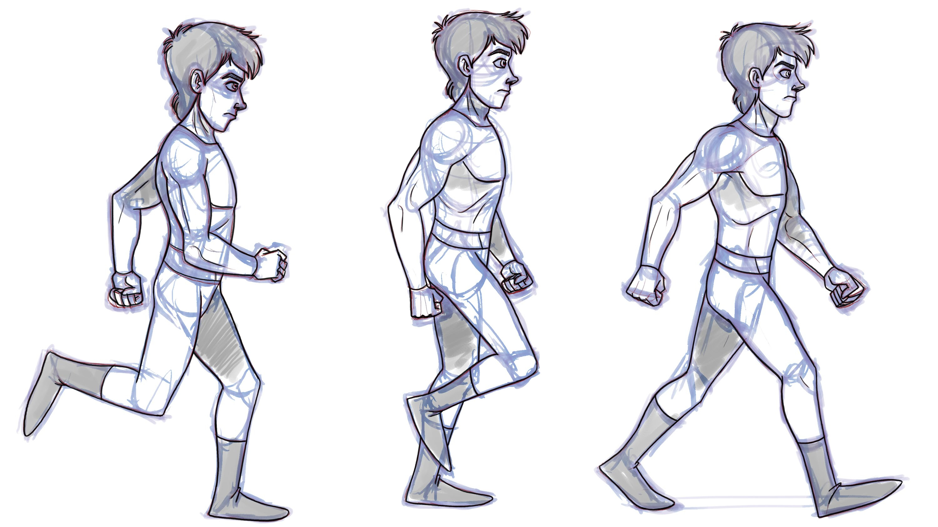 3000x1688 Drawing Of A Man Walking How To Animate A Walk Cycle Animation