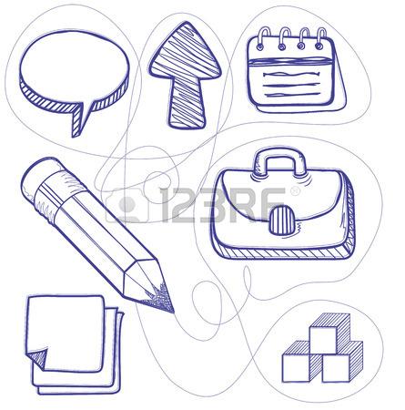 445x450 Hand Drawn Management Design Line. Management Business Drawing