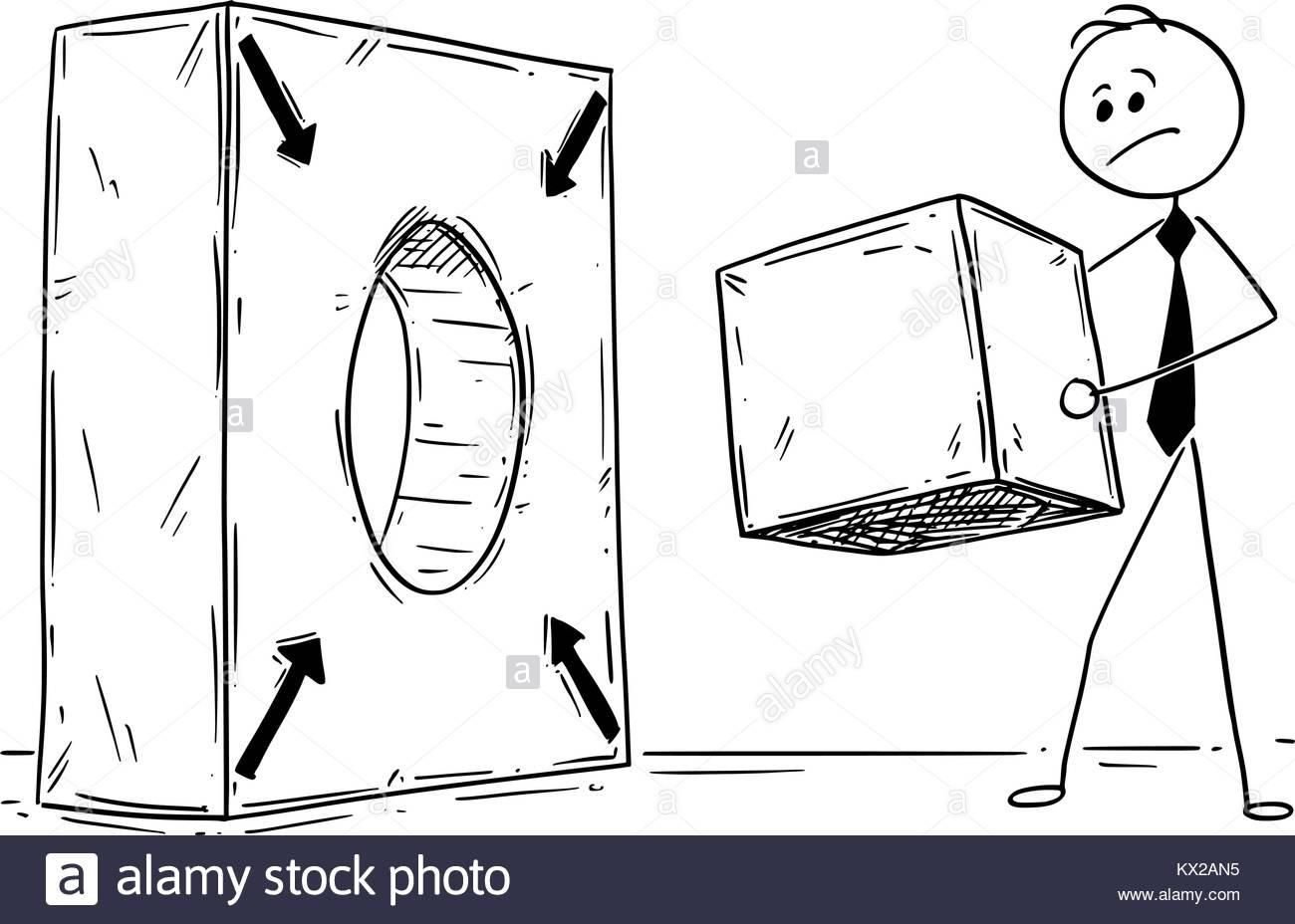 1300x928 Cartoon Stick Man Drawing Conceptual Illustration Of Businessman