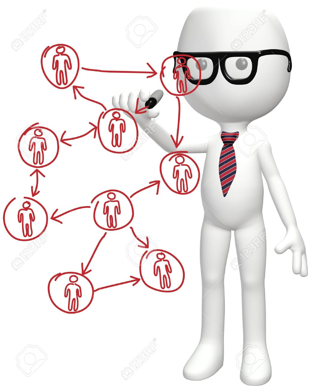 1048x1300 Intelligent Manager Drawing Diagram Of Business Social Network