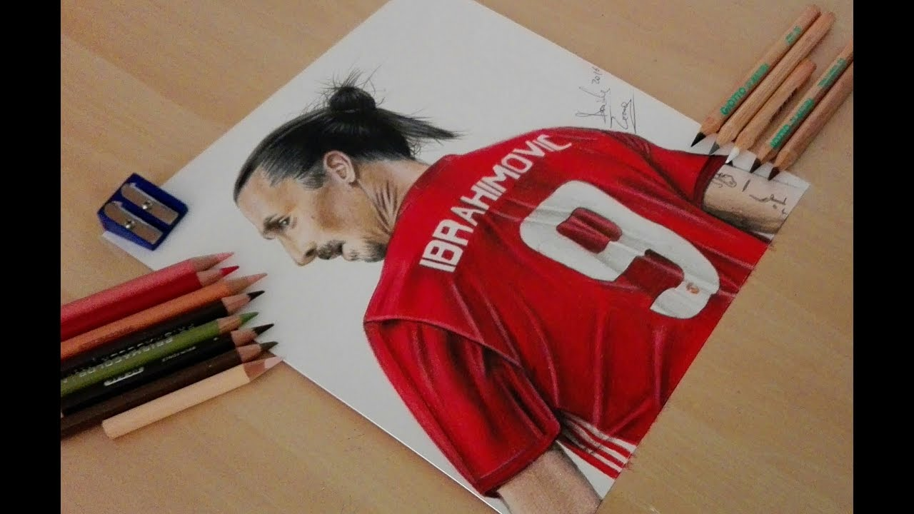 1280x720 Drawing Zlatan Ibrahimovic