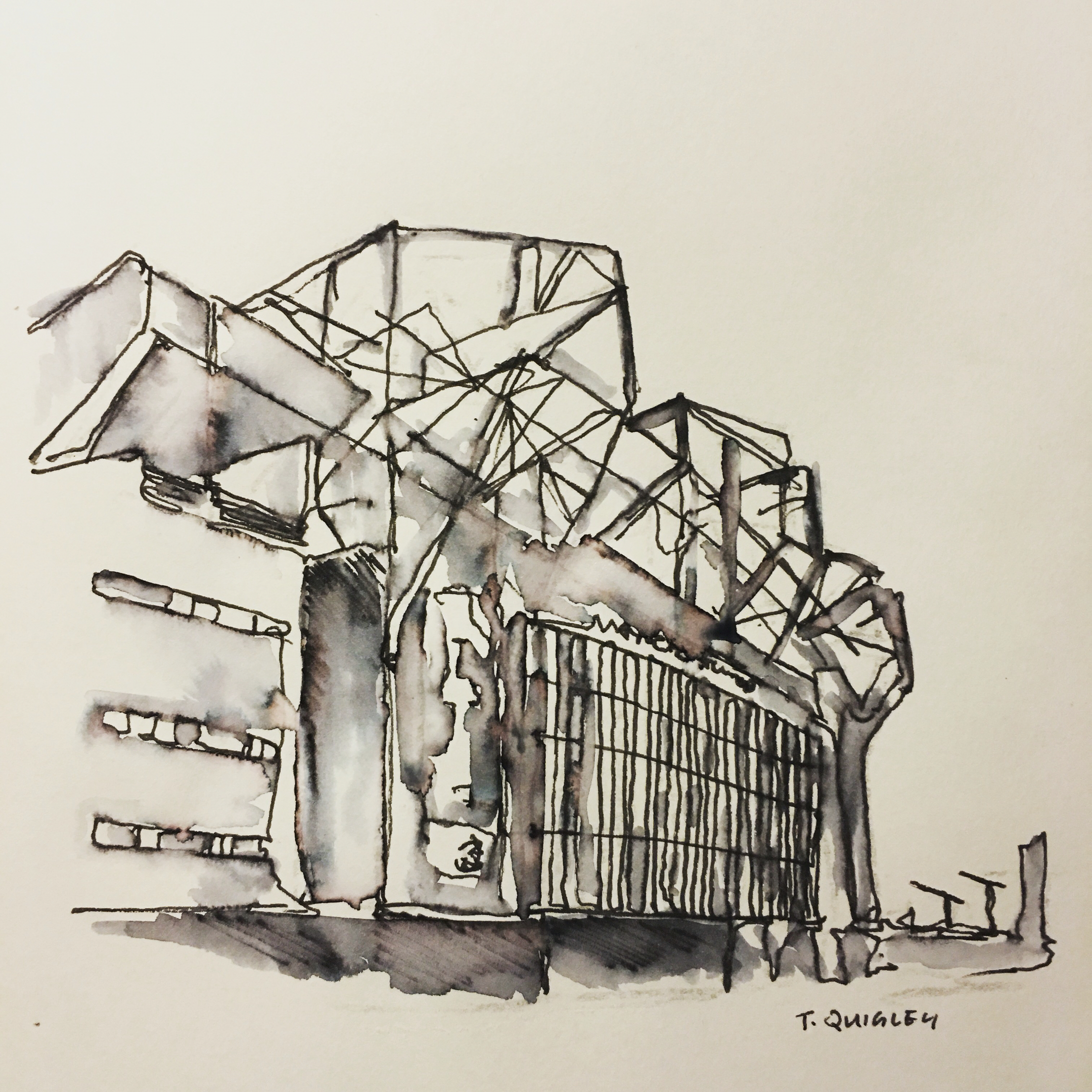 2208x2208 Manchester United, Continuous Line Drawing Tom Quigley Art Work