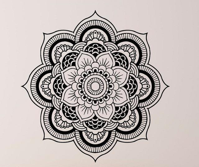 640x538 Hot Selling Wall Stickers Mandala Yoga Ornament Indian Buddha Om
