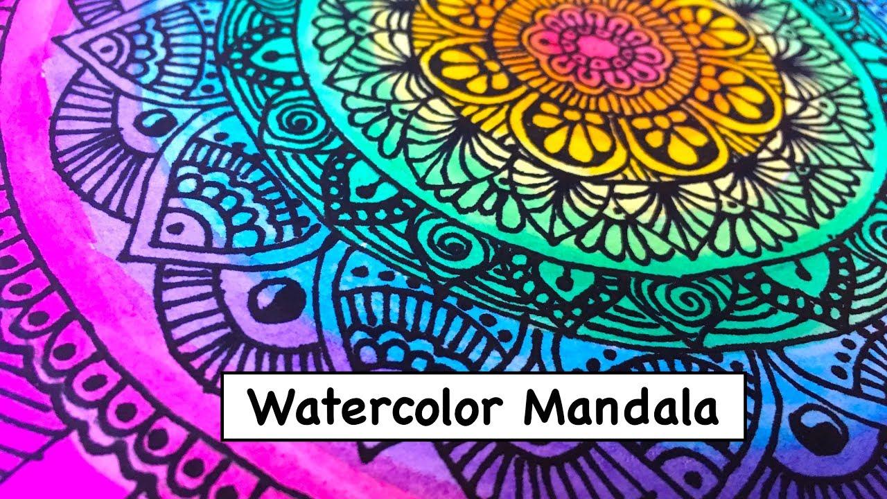 1280x720 Watercolor Mandala Art Drawing 2