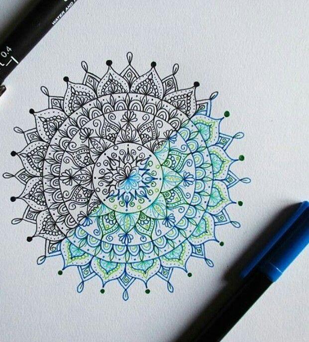 621x687 Colored Pencil Mandala Art Art Journaling