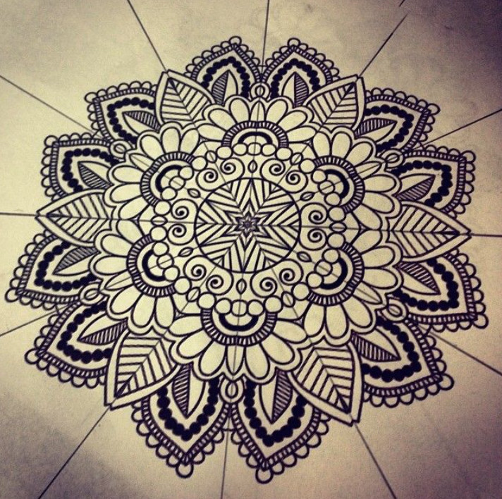 712x708 How To Draw Mandala Patterns Mandala Coloring Books