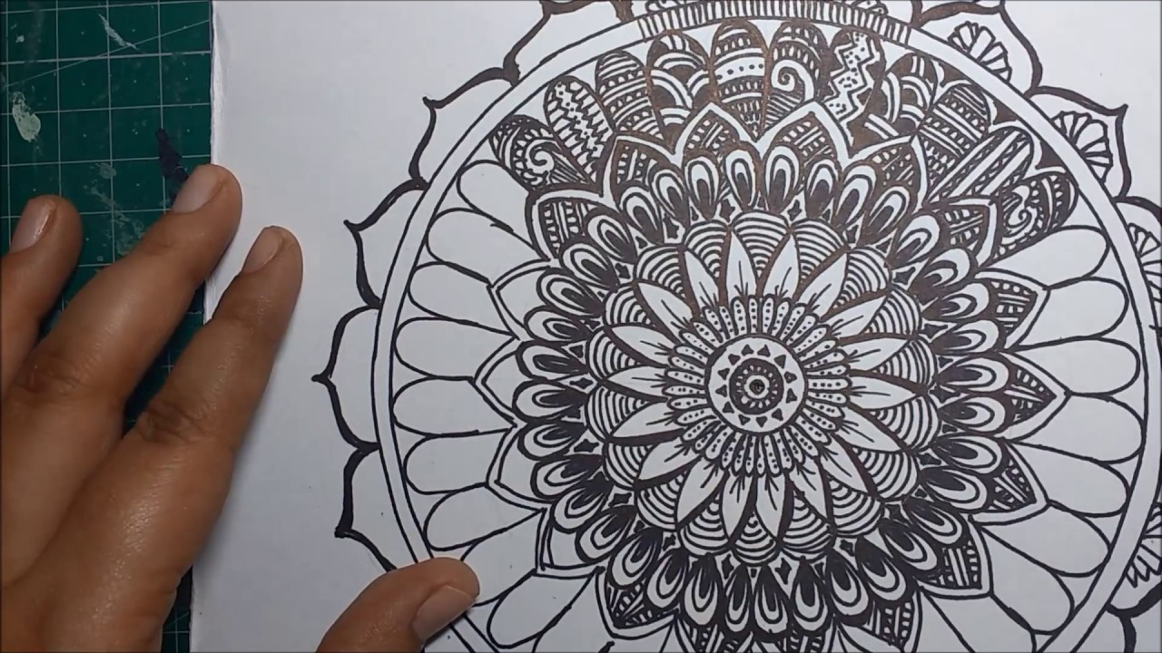 1280x720 How to draw a Mandala (Step by Step Process)