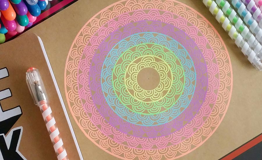 900x550 Easy Steps On How To Start Drawing A Colorful Mandala Ooly