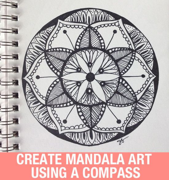 550x585 Mandala Art Looks Complicated, But It's Easy If You Use A Compass