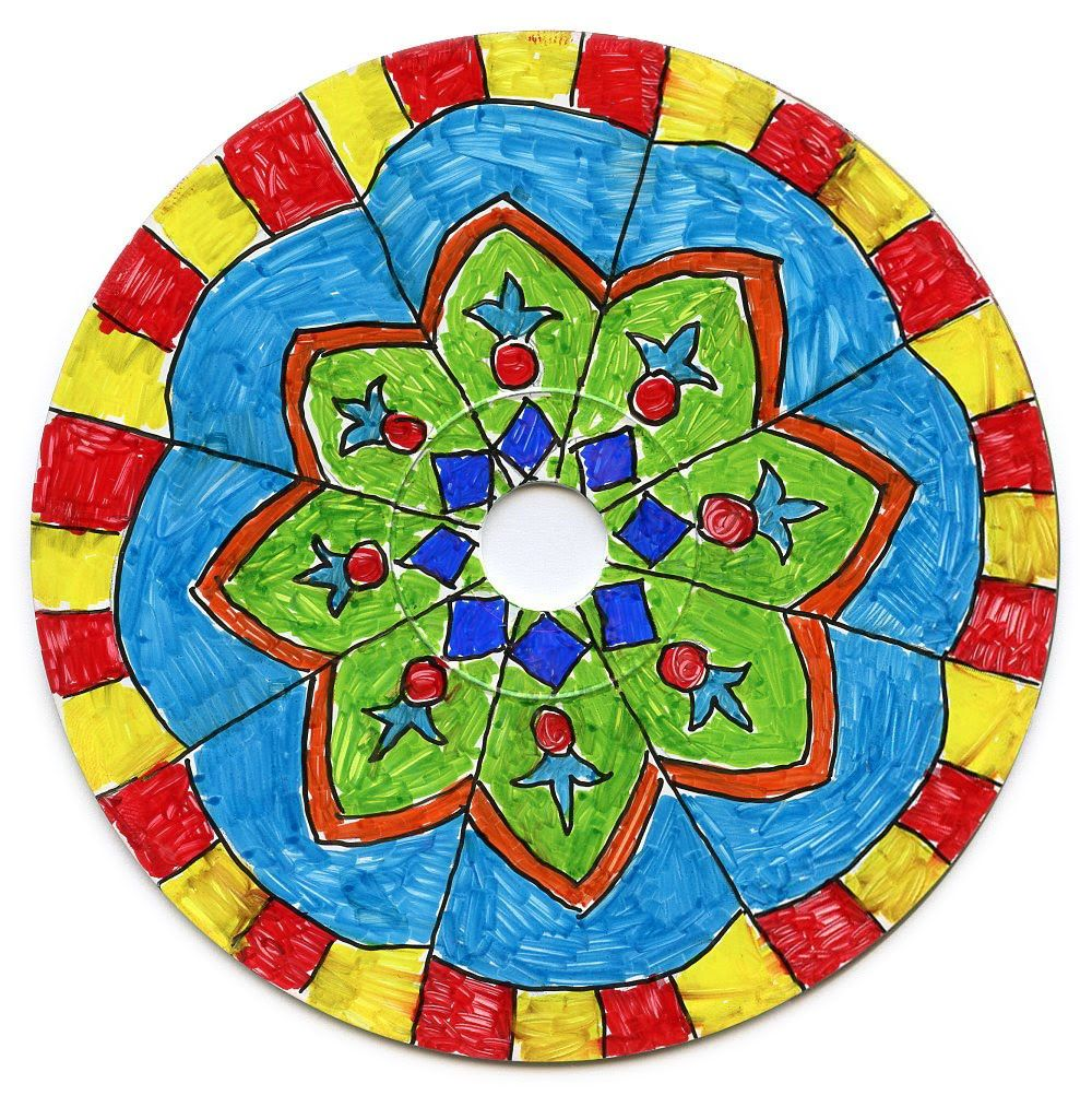 1000x1013 Cd Mandala Art Project Mandala Drawing, Mandala And Sharpie Markers