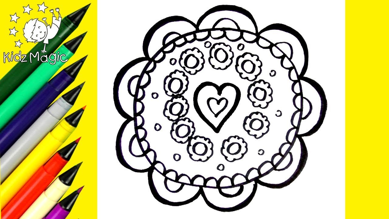 1280x720 Draw And Color Mandala Coloring Page Mandala Coloring Pages