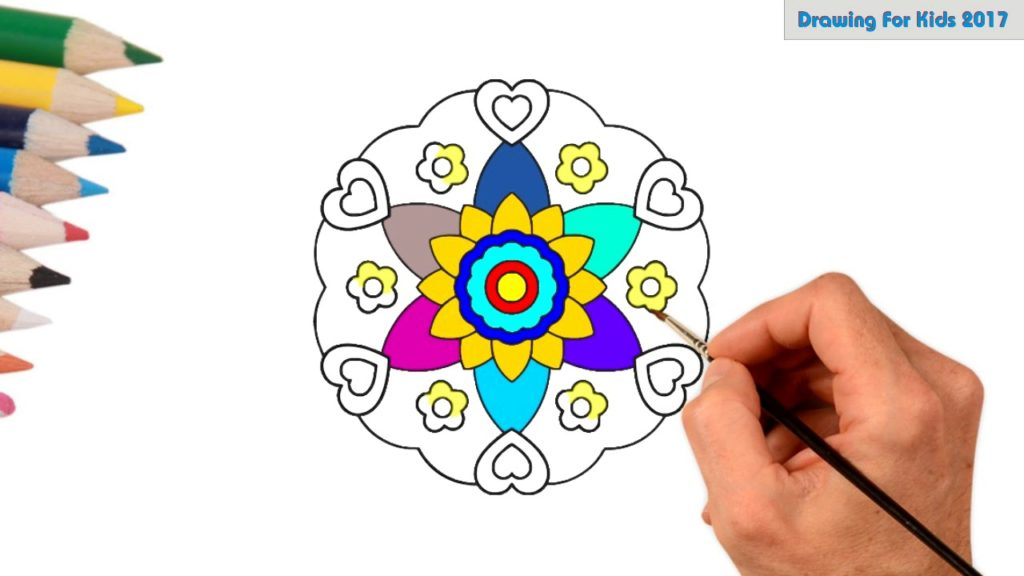 1024x576 Learn Colors With Mandala Flowers For Kids How To Draw Mandala