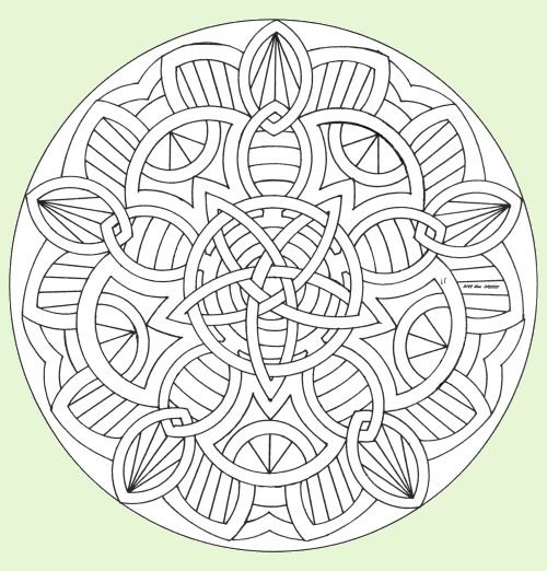 500x522 1642 Best Printables Images On Adult Coloring, Mandala