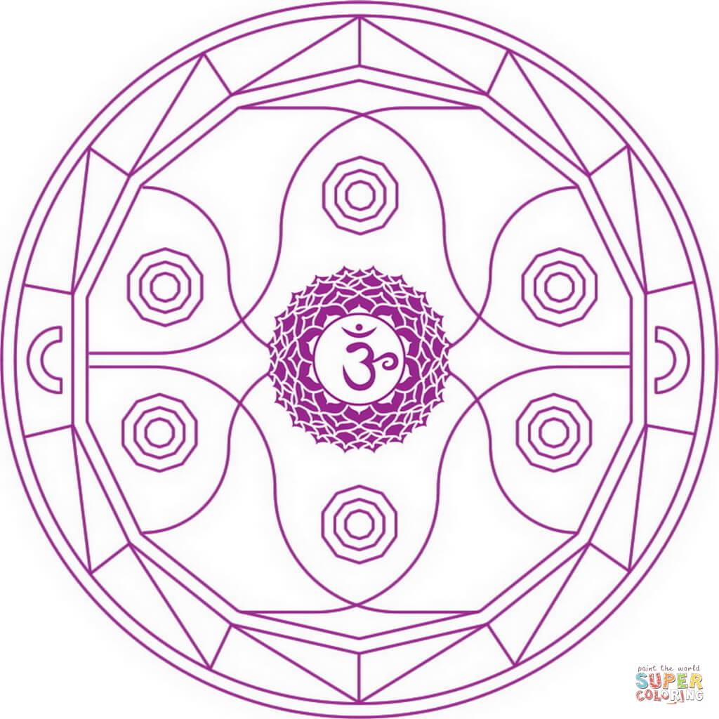 1024x1024 Ajna Chakra Mandala Coloring Page Free Printable Coloring Pages