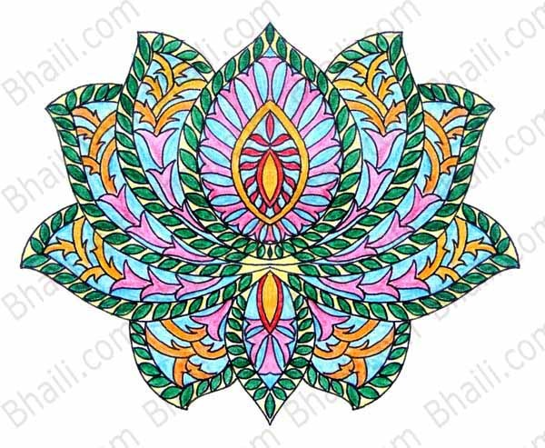 600x493 Free Mandala Coloring Page Bhaili Your Friend