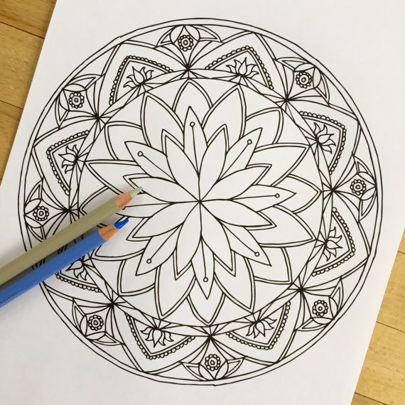 570x570 Ideas Collection Printable Lotus Mandala Drawing On Cover
