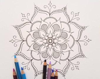 340x270 Mandala Coloring Etsy