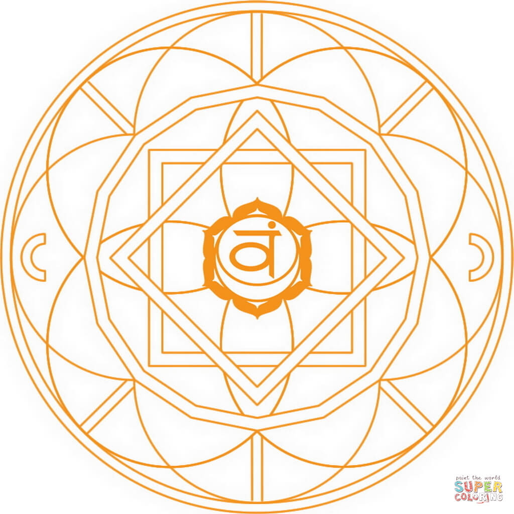 1024x1024 Svadhishthana Chakra Mandala Coloring Page Free Printable