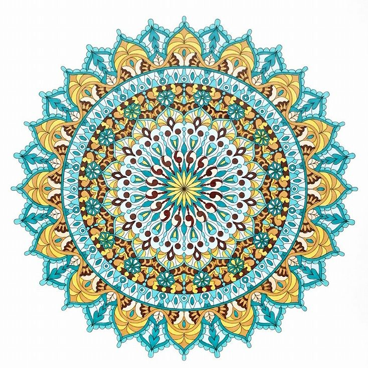 734x735 Warm Soul Printable Mandala Coloring Page. Colored By Tamila K