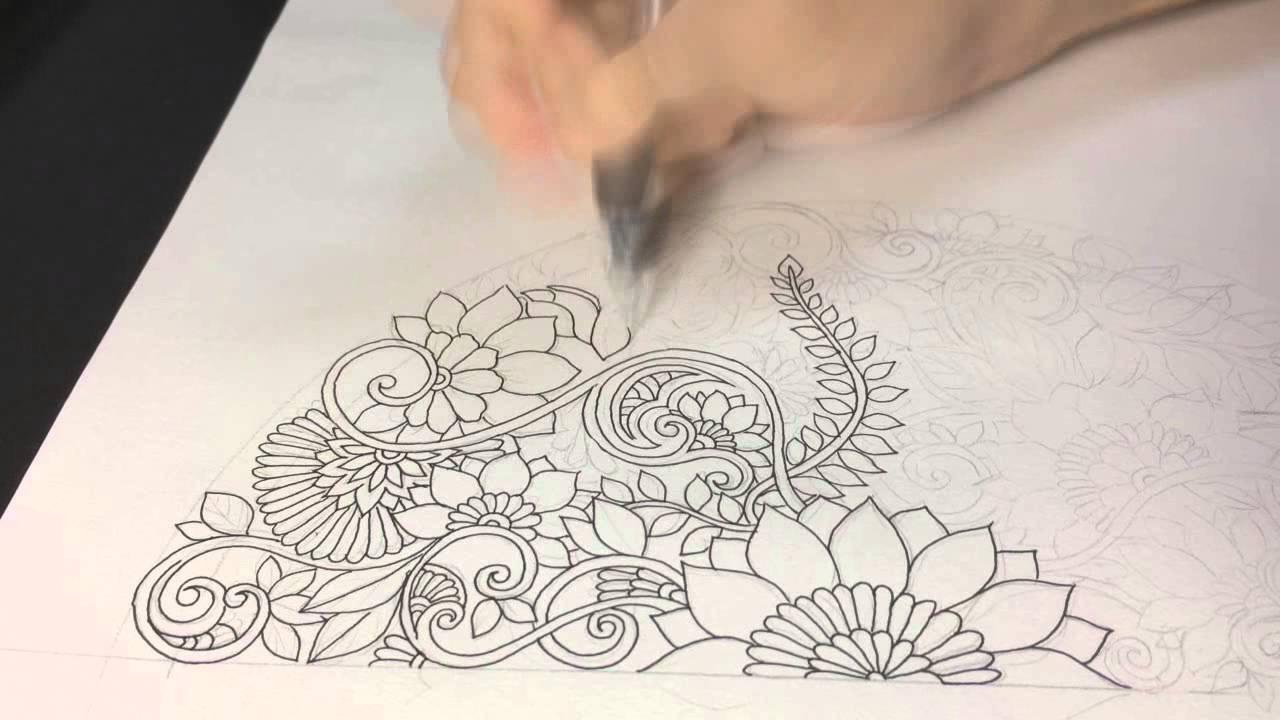 1280x720 How To Draw Symmetry Floral Mandala