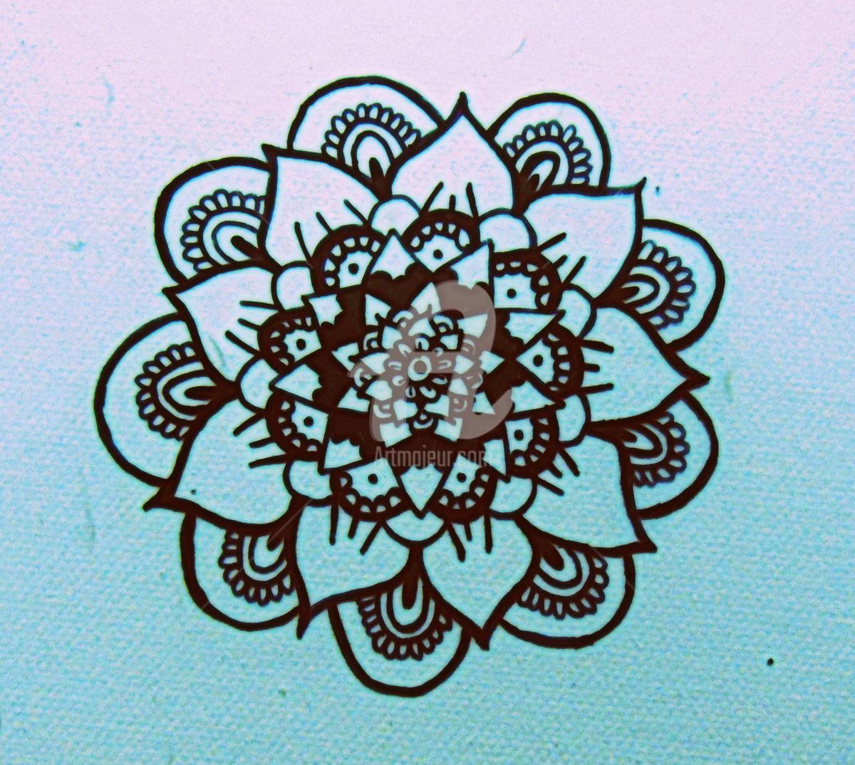 1200x1074 Mandala Flower (Enric4pav)