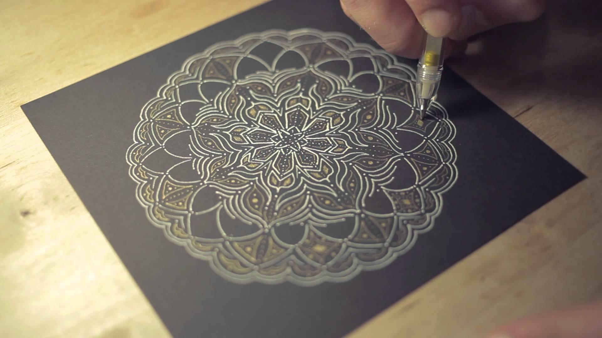1920x1080 Mandala Flower Drawing Process