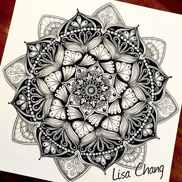 612x612 Mandala Flower Drawing Tutorial