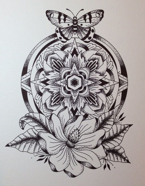 Mandala Tattoo Drawing at GetDrawings.com | Free for personal use ...