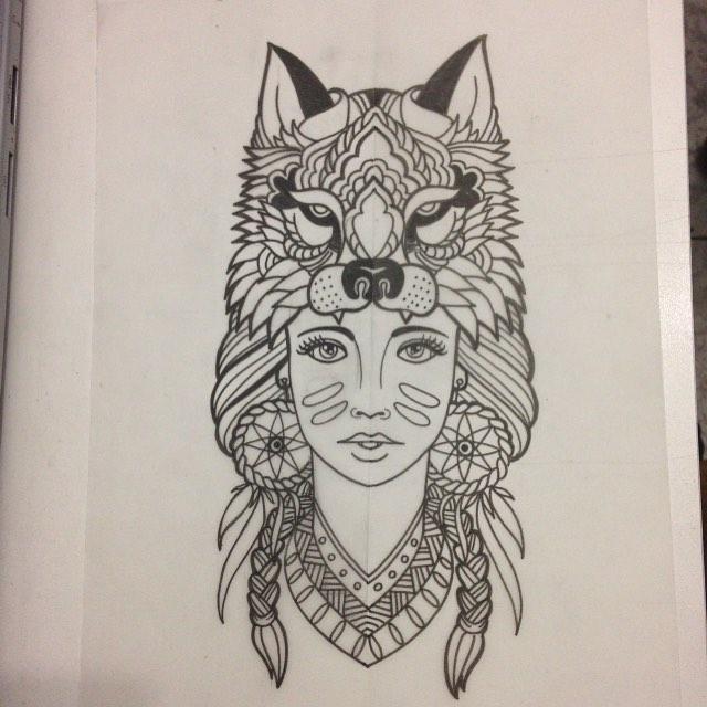 Mandala Wolf Drawing At Getdrawingscom Free For Personal