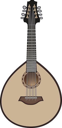 242x500 Mandolin Vector Illustration Public Domain Vectors