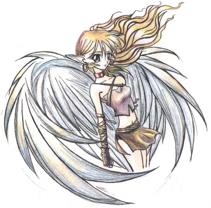 722x712 Sad Angel Coloured By Alora