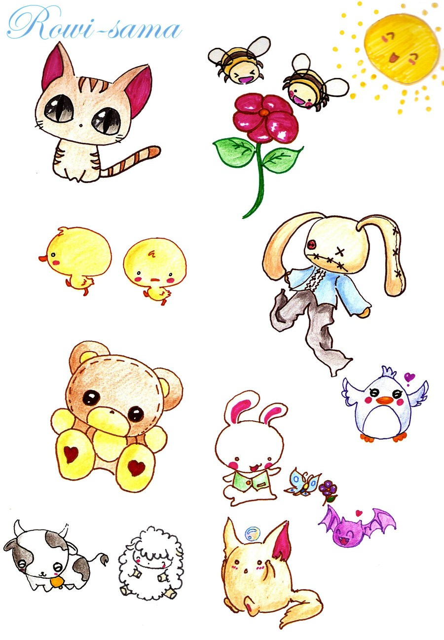 900x1297 Animal Anime Drawings Animal Anime Drawings Cute Anime Animals
