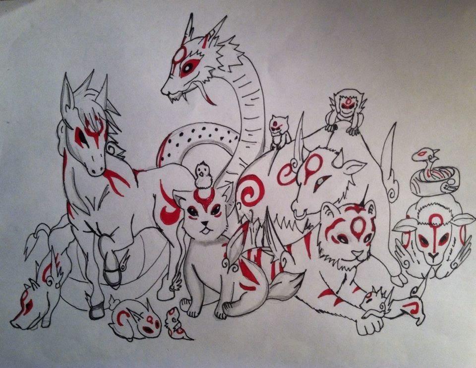 960x742 Drawing Manga Animals Okami Characters