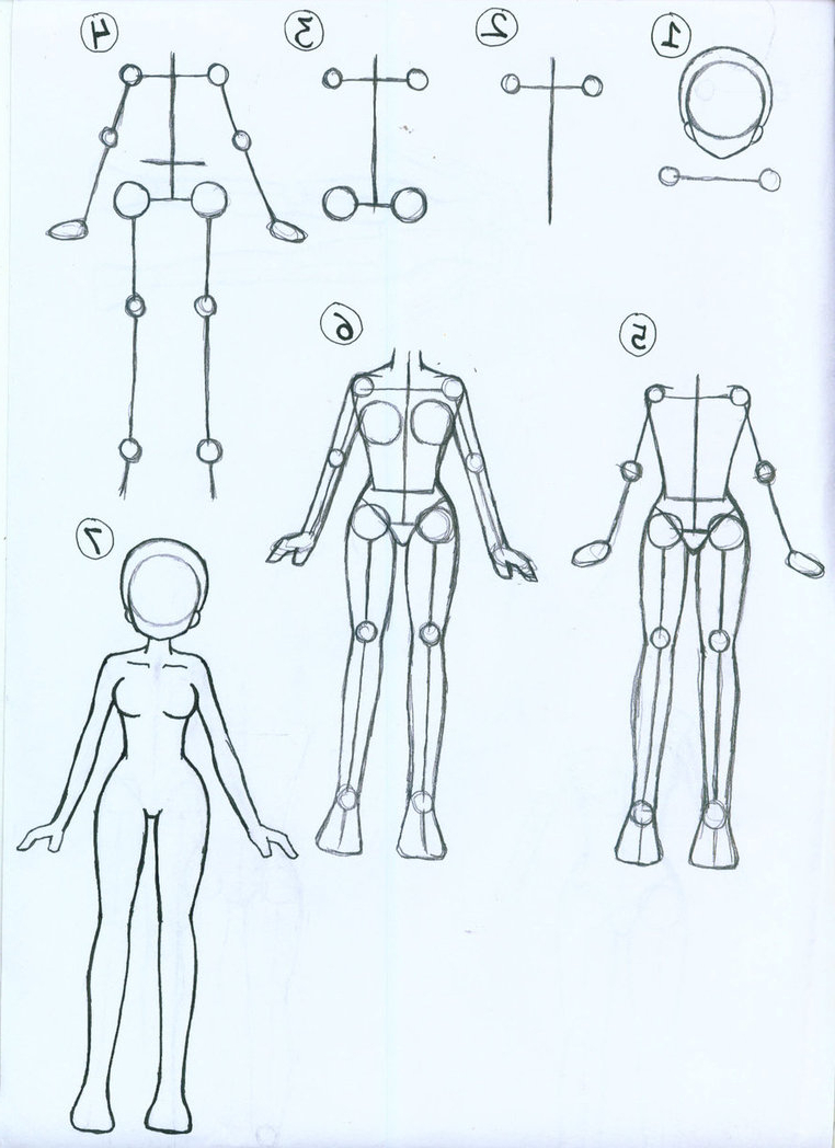 762x1048 How To Draw Anime Body Step By Step For Beginners Drawn Manga