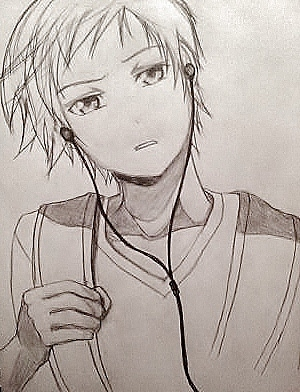 300x392 Anime Boy (Line Drawing) By 9mumei19