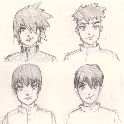 500x500 Draw Manga Man Hair 4 Different Ways