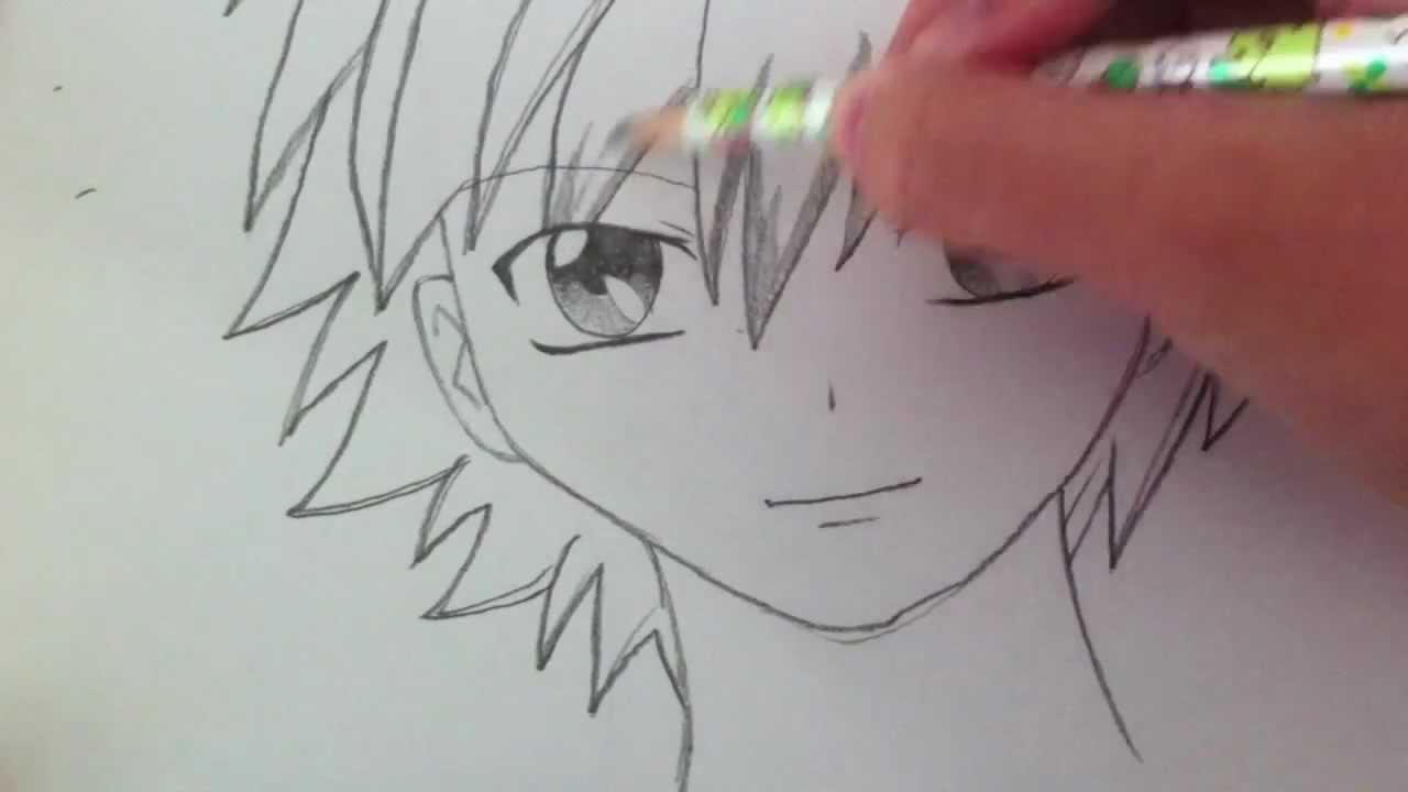 1280x720 Drawing A Basic Manga Boy
