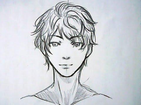 480x360 manga boy drawing slow tutorial ^^