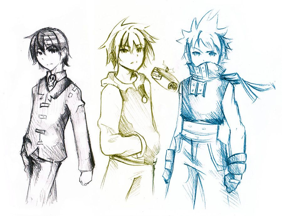 900x691 Soul Eater 3 boys by on @deviantART
