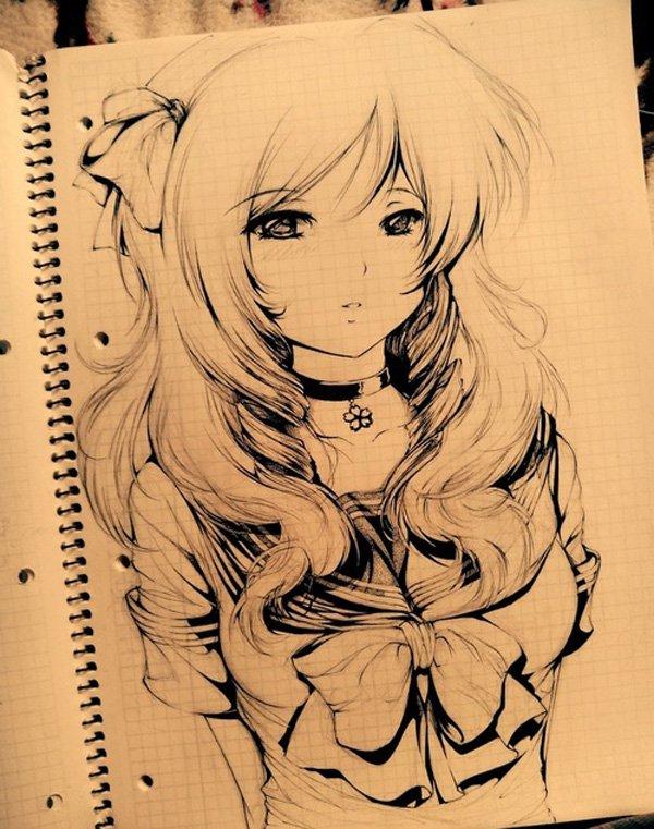 600x761 55 Beautiful Anime Drawings Art and Design