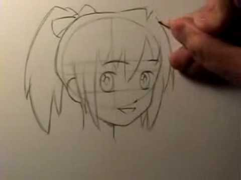 480x360 How to Draw Manga Head Shape amp Facial Features