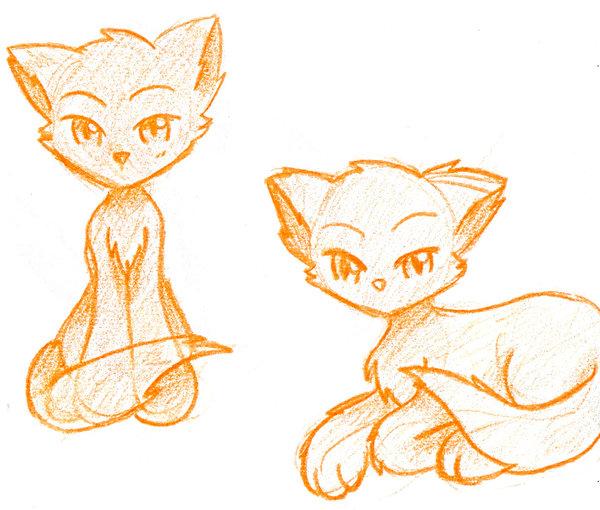 600x510 Manga Chibi Fox Cats By Glorycat