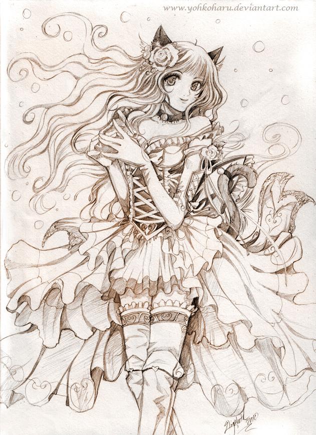631x867 Sweet Cat Girl By Yohkoharu